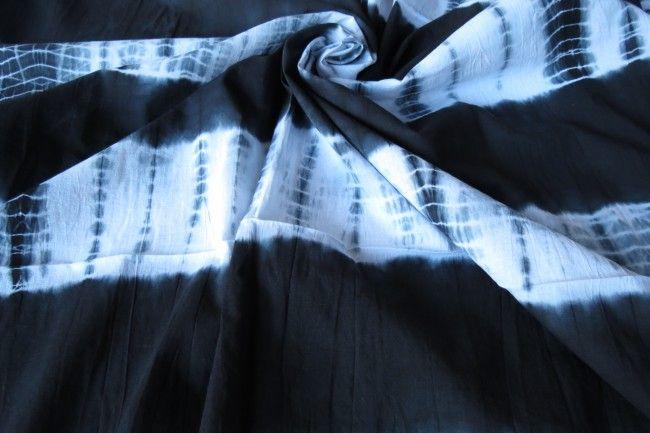 Dark Shadow Batik Fabric By The Yard