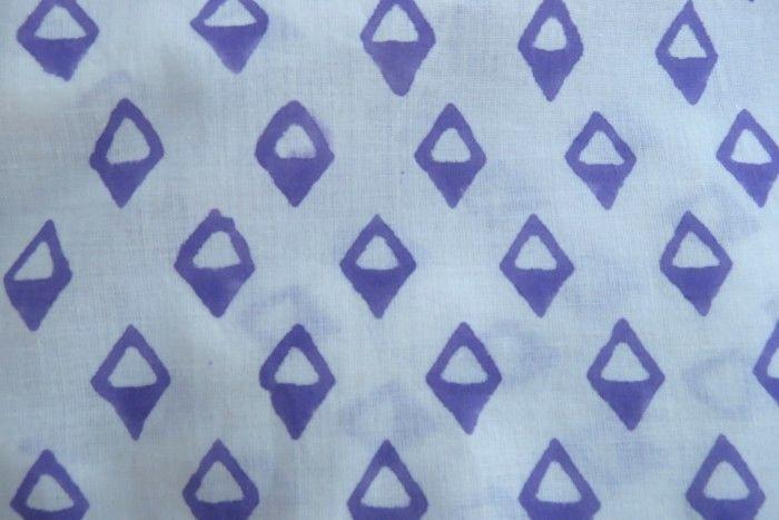 Violet Diamond Block Print Fabric