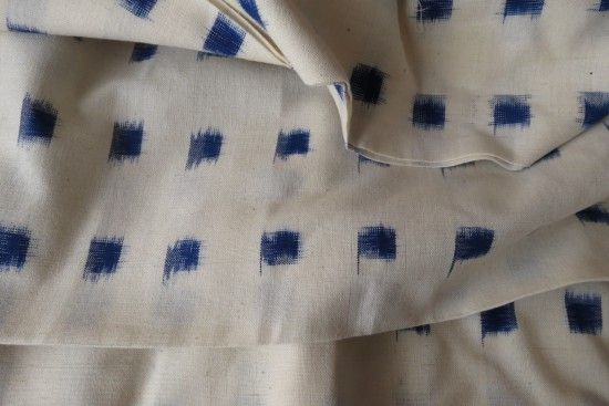 White And Blue Double Ikat Pattern