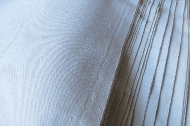 White Cotton Canvas Fabric By The Yard