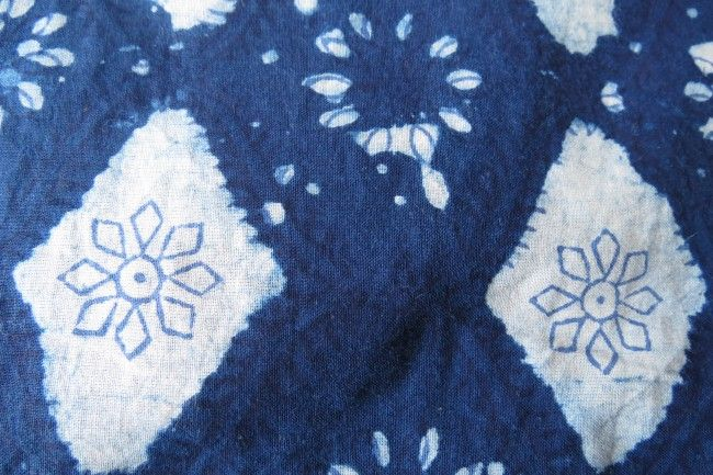 Indigo Floral Cotton Fabric By The Yard