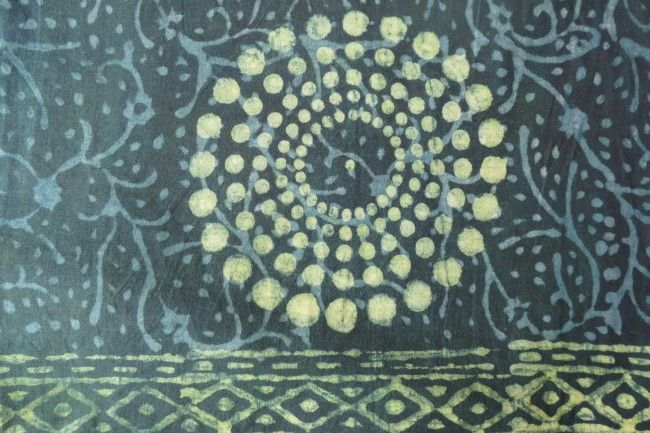 Green Floral Cotton Fabric By The Yard