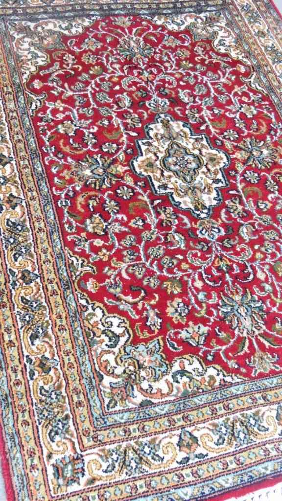 Kashmir Pure Silk Red Persian Carpet