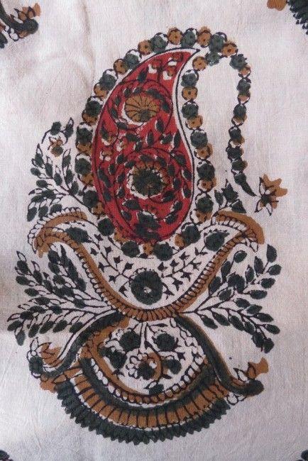 Multicolor Paisley Print Fabric