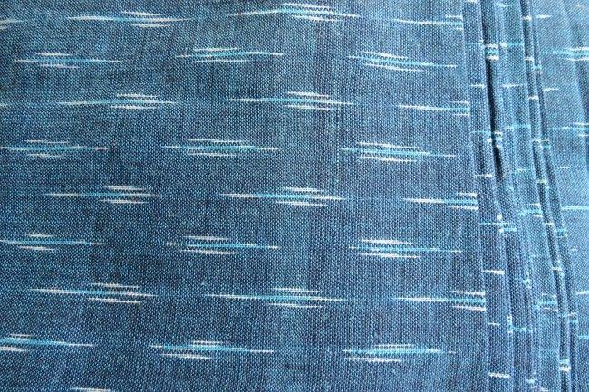 Denim Bluish Ikat Fabric