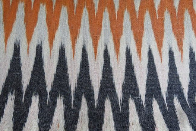 Tricolor Ikat Fabric By The Yard