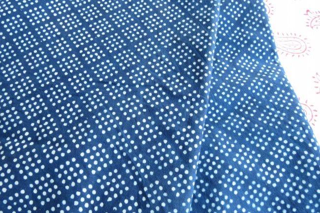 Dotted Indigo Cotton Fabric