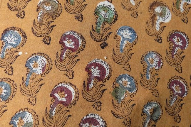Multicolor Floral Bagru Fabric By The Yard