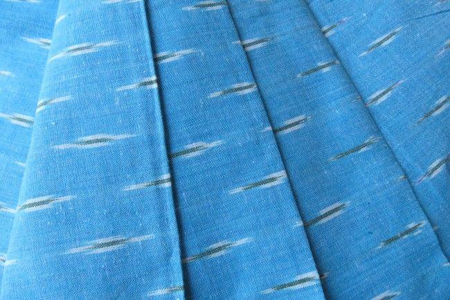 Ocean Blue Ikat Fabric