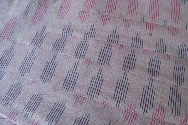Peach Pink Ikat Fabric Online