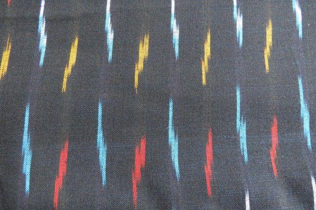 Black Ikat Fabric Online
