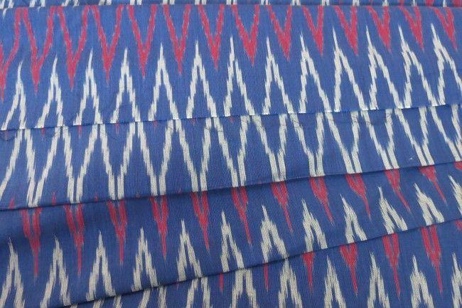 Navy Blue Ikat Fabric
