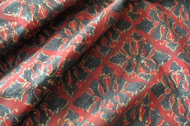 Ajrakh Block Printing Cotton Fabric