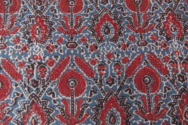 Ajrakh Block Printing Fabric By The Yard