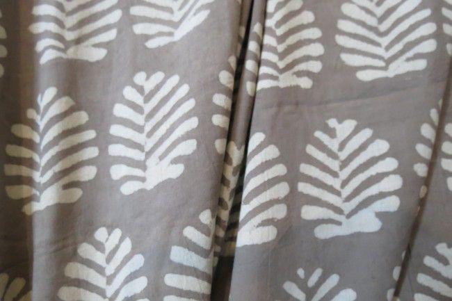 Kashish Grey Block Print Cotton Fabric
