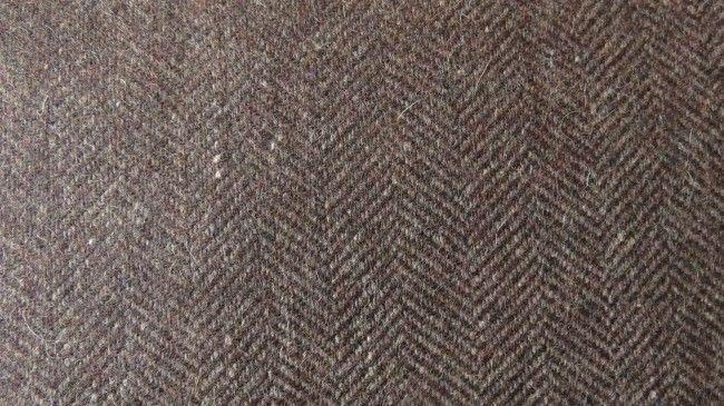 Brown Tweed Wool Fabric By The Yard Hf998s