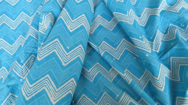 Designer Blue Cotton Fabric