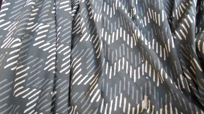 Grey Striped Cotton Fabric