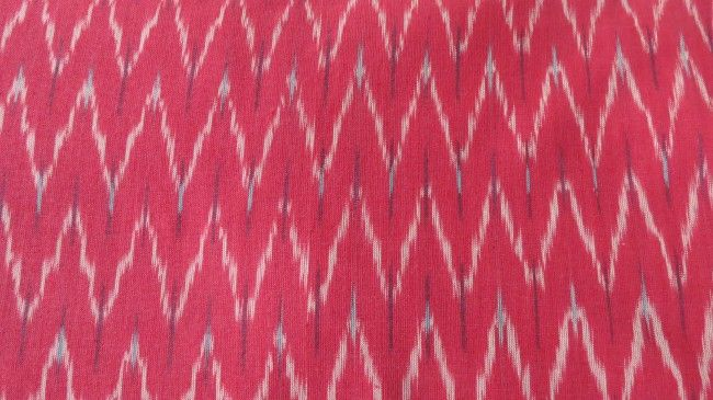 Rosy Pink Ikat Fabric Online