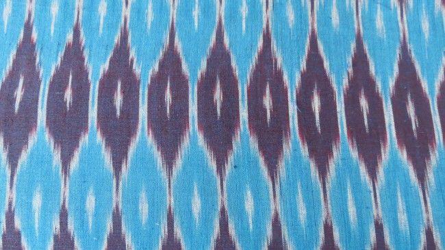Blue Designer Ikat Fabric Online