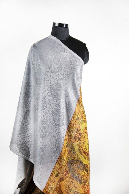 Designer Grey Fashion Scarves For Women