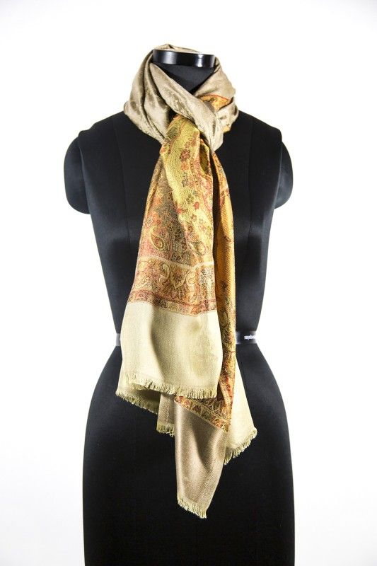 Brown Paisley Fashion Scarves For Women