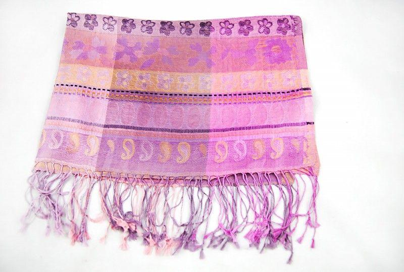 Blush Pink Designer Silk Scarves