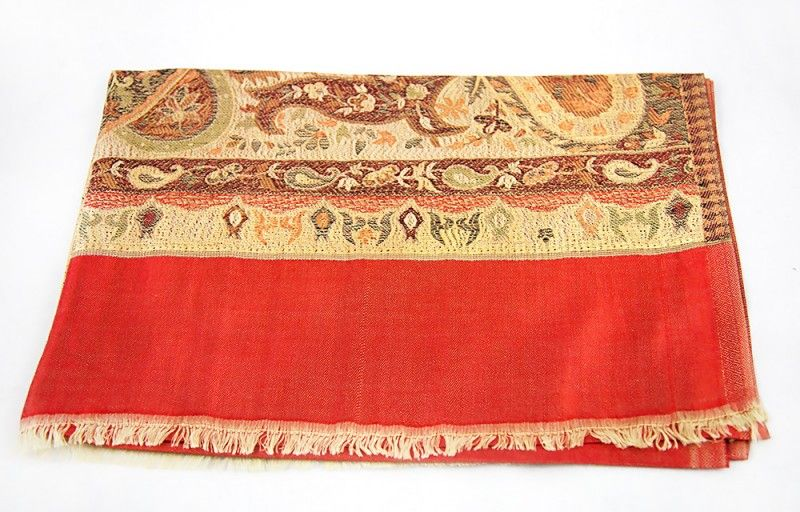 Reversible Red Fall Scarves From India