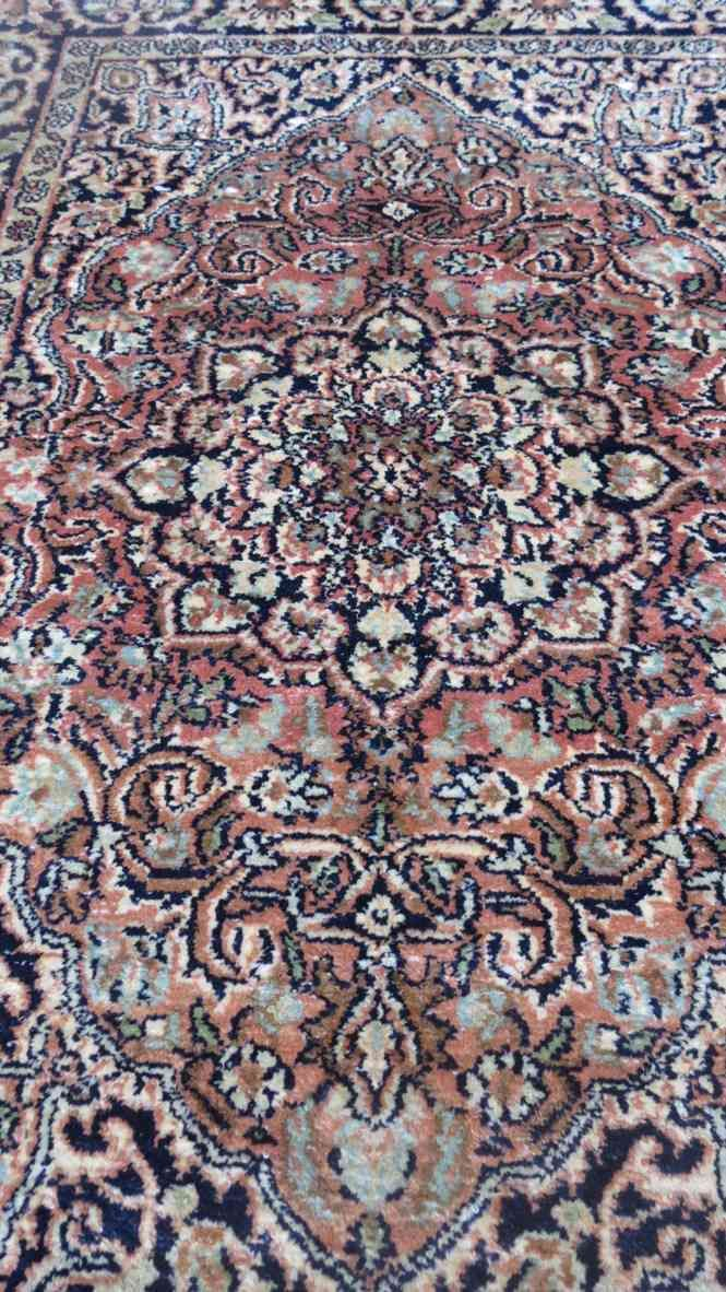 Kashmir Brown Silk Rug From India
