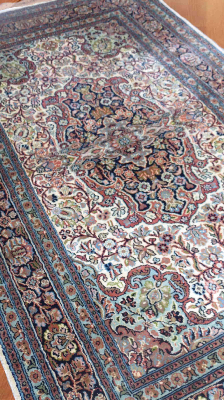 Kashmir Pure Silk Brown Handmade Rugs From India