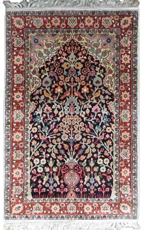 Mughal Garden Design Persian Silk Rugs