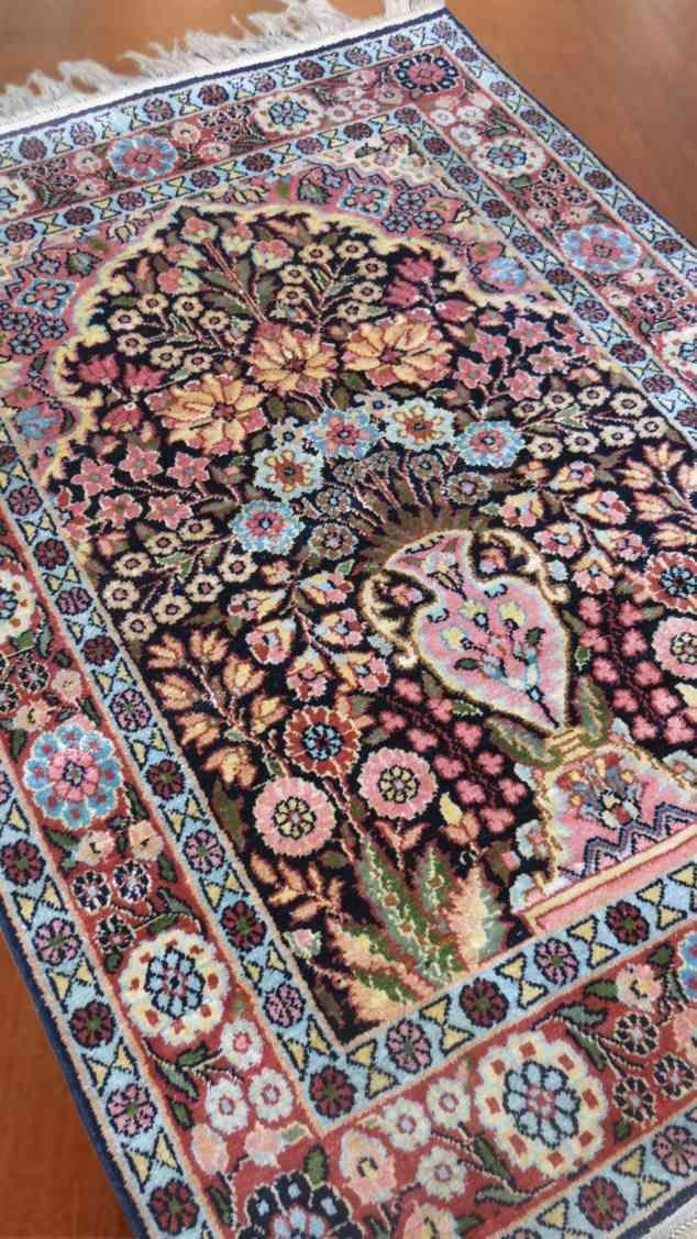 Mughal Garden Design Pure Silk Carpet
