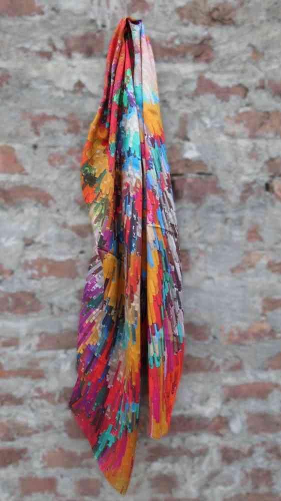 Multicolor Designer Silk Scarves