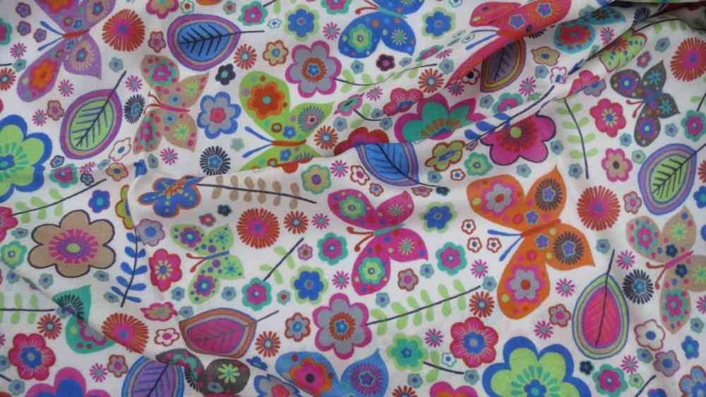 Multicolor Floral Designer Silk Scarves
