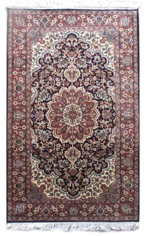 Persian Design Blue Woolen Rug