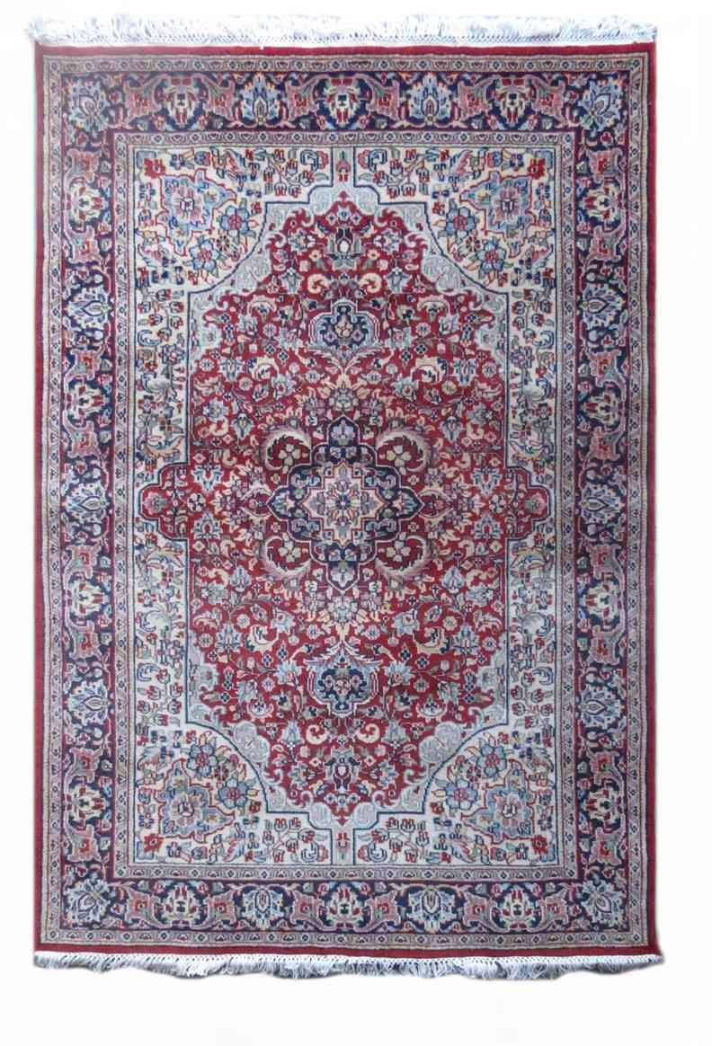 Persian Design Red Handmade Wool Rug