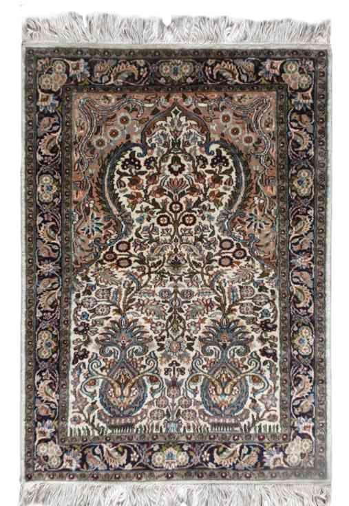 Pure Silk Kashmir Garden Carpet