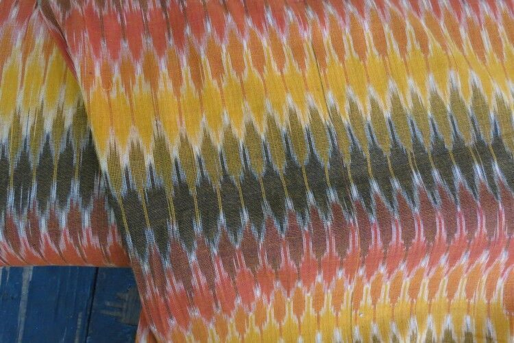 Colorful Ikat Fabric By The Yard