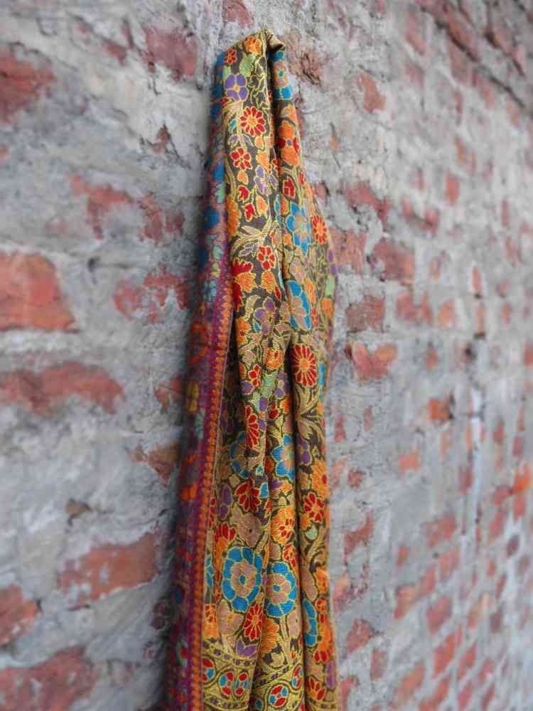 Red Beauty Embroidery Designer Scarf