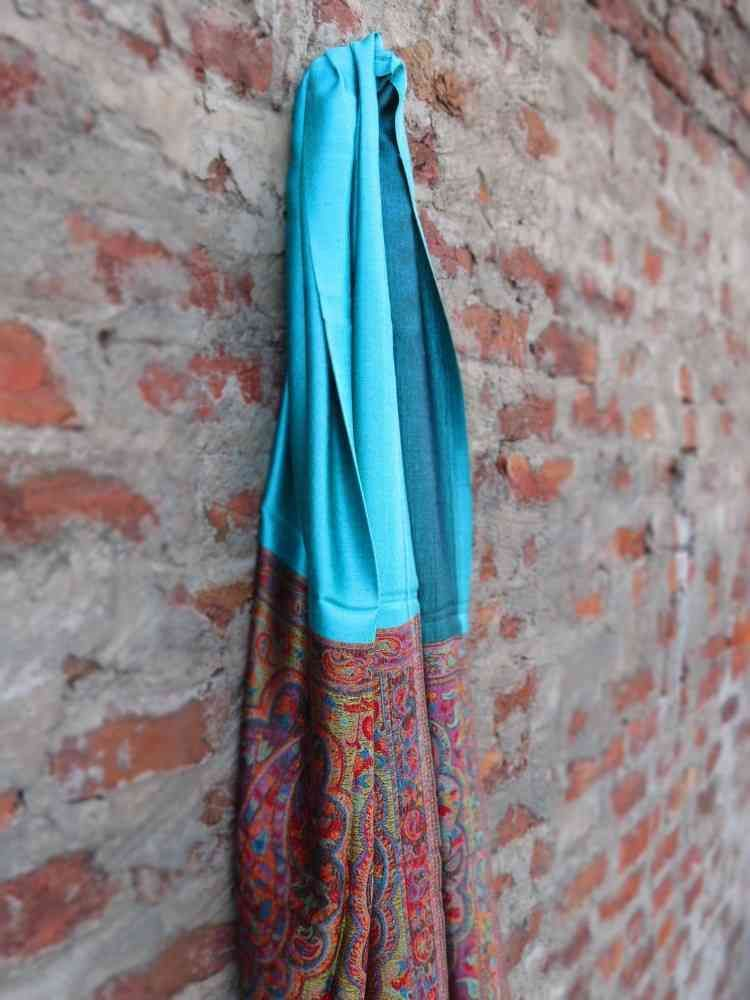 Reversible Green Fall Scarves From India