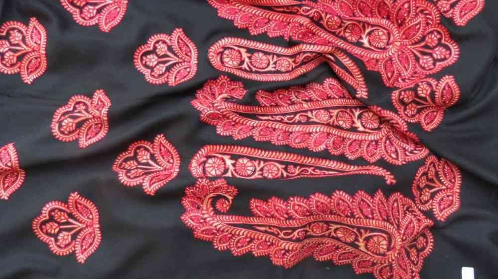 Royal Red Cashmere Paisley Scarf