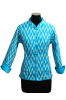 Sky Blue Reversible Ikat Cotton Quilted Jacket