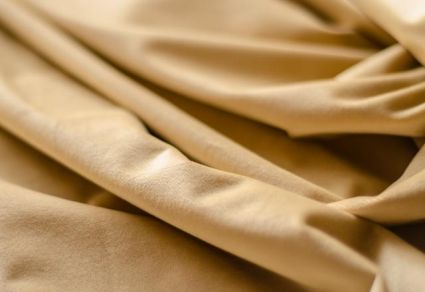 BEIGE COTTON VELVET FABRIC BY THE YARD