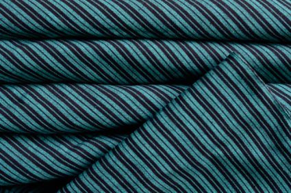 GREEN AND BLACK HANDWOVEN COTTON FABRIC-HF721