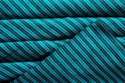 BLACK AND GREEN STRIPED HANDWOVEN COTTON FABRIC-HF722