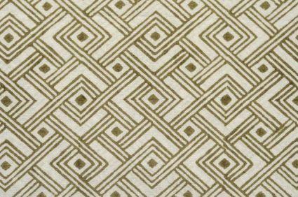 Olive Green Diamond Cotton Upholstery Fabric