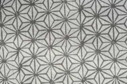 Grey Floral Web Cotton Upholstery Fabric