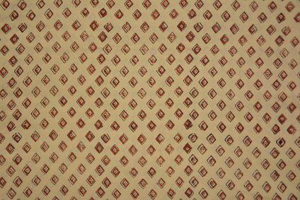 Bagru Diamond Hand Block Printed Cotton Fabric