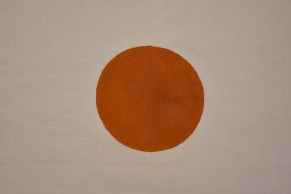 Brown Block Printed Cotton Fabric