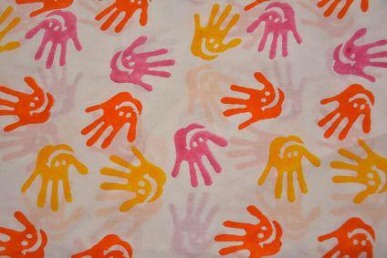 Multicolor Hand Block Printed Cotton Fabric